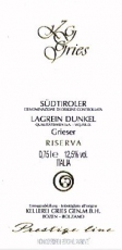 Lagrein Dunkel Riserva Prestige 2009 Kellerei Bozen